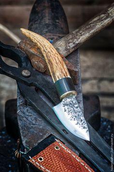 """Купить нож """"Krigare"""" с ножнами - нож, воин, ведьма, колдун, ритуал, символ, шнурок"""