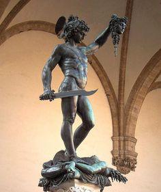 Benvenuto Cellini - Perseus with the head of Medusa   Loggia dei Lanzi, Florence
