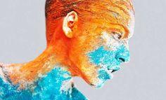 Neon Splatter Photography - The Igor Klepnev 'Pop Art Portraits' Series Splatters with Creativity (GALLERY)