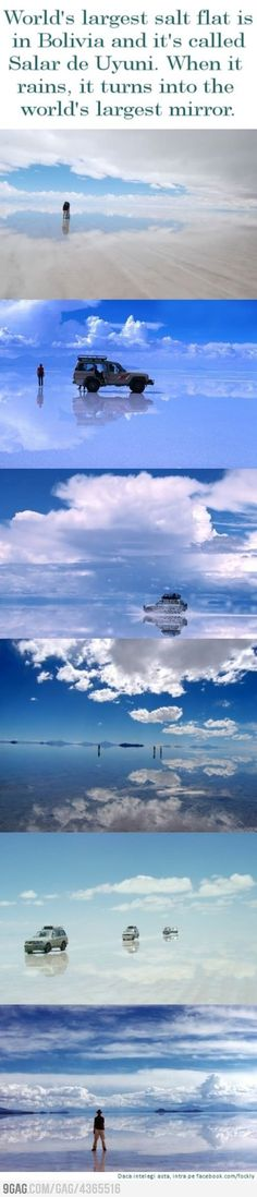 World's largest mirror, Bolivia