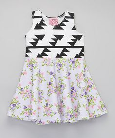 Love this Lavender & White Arrow Skater Dress - Infant, Toddler & Girls by Pretty Me on #zulily! #zulilyfinds
