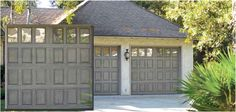 Impression Fiberglass Garage Doors  The Impression Collection® features a fiberglass exterior that looks like real wood but without the maintenance.