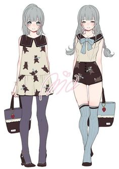 cloth for anime characters Female Character Design, Character Design References, Character Design Inspiration, Character Art, Character Concept, Manga Girl, Anime Art Girl, Anime Style, Female Characters