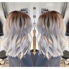 Platinum balayage! Hair by @haley_ellesalon ⠀