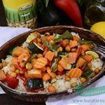 Cus cus cu naut si legume coapte  sunfood sunfoodconserve instagram food