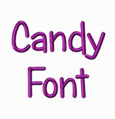 Candy Machine Embroidery Font Monogram Alphabet - 3 Sizes