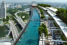 Marina Bay Sands is the most attractive tourist attractions in Singapore. Marina Bay Sands is an integrated resort fronting Marina Bay in Singapore. Hotel Marina Bay Sands, Sands Hotel, Sands Singapore, Singapore Travel, Singapore Tour, Places To Travel, Places To See, Singapore, Viajes