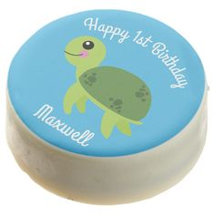 Under the Sea Turtle Birthday Oreo CookiesA selection of products for the home with a seaside theme. Chocolate Turtles, Chocolate Dipped Oreos, Cookie Icing, Oreo Cookies, Happy 1st Birthdays, First Birthday Parties, Sea Aquarium, Seaside Theme, Polysorbate 80