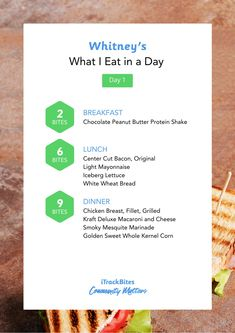 Here's, our friend and brand ambassador, Whitney's simple 3 day meal plan. Click the link to track in the iTrackBites app! Whitney's easy, low calorie meals follow our Better Balance plan!