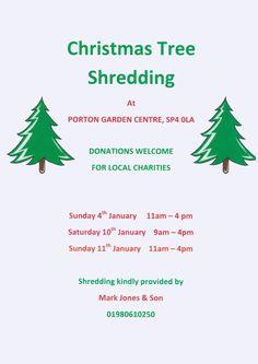Come and shred your Christmas Tree #portonaquapet #shred #christmas #tree #shredding