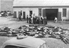 File:Massacre Kovno Garage 27 JUNE - Massacre of 68 Jews in the Lietukis garage of Kaunas (Lithuania) on the 25 or 27 of June Jewish History, World History, Kaunas Lithuania, Horrible Histories, Jewish Men, Lest We Forget, Loin, Public, Persecution