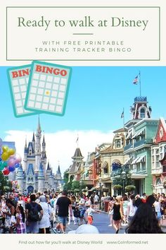 Start training now! You can easily walk ten miles or more every day of a   theme park vacation. This post includes park maps and walking distances   to the most popular attractions in each Disney World park, plus   Universal Orlando. And tips to help you start walking in your own   neighborhood, including a free printable bingo card.