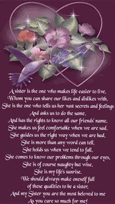 Birthday Poem For Sister In Heaven Nemetasaufgegabeltinfo