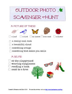 Photo Scavenger Hunt printable -- perfect for summer activity and teaching kids about how to take photos.