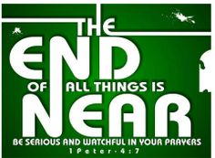 1 Peter 4:6 That is why the Good News was preached to those who are now dead—so although they were destined to die like all people, they now live forever with God in the Spirit.[d]  7 The end of the world is coming soon. Therefore, be earnest and disciplined in your prayers.