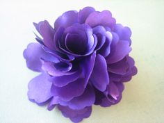 Beautiful Violet Silk Flower Hair Clip and Brooch  by ZARDENIA, $3.95