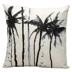 Gorgeous Tropic Tree Plant Cushion Cover  Throw Pillow Cover  Decorative Pillows