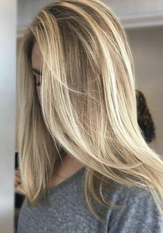 blonde balayage highlights- too light but I like the way these were done