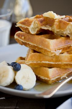 5 Minute Overnight Yeasted Waffles | Portuguese Girl Cooks - yeasted waffles are amazing! You've got to try them!