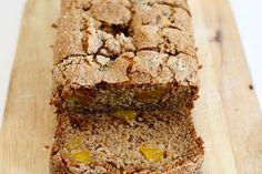 vegan mango banana bread! I substituted whole wheat flour and used a bit less veggie oil & sugar :) yum.