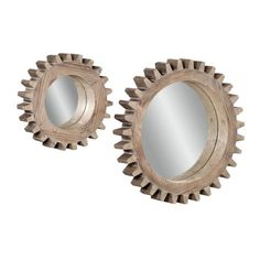 Sprockets Wall Mirrors - Set of 2 - Mirrors at Hayneedle ($328) ❤ liked on Polyvore featuring home, home decor, mirrors and mirror