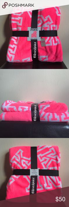 •Victoria's Secret PINK• Plush Cozy Blanket •Victoria's Secret PINK•  Plush cozy blanket. Lightweight and very warm. Measurements: 50in x 60in Hot neon pink color with white logo pattern New with tags MSRP $54.95  ✨Please read before commenting✨  ❌No Trades ❌No Holds ❌Prices are Firm but I will evaluate offers up to a 10% off a listed price. Consider every other offer Declined ❌Keep rudeness to yourself  ✨ ILoveShiniez ✨ PINK Victoria's Secret Other