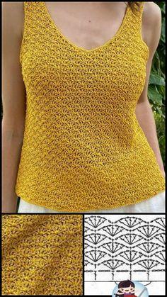 Débardeurs Au Crochet, Crochet Coat, Crochet Quilt, Crochet Blouse, Cute Crochet, Crochet Doilies, Crochet Clothes, Crochet Stitches, Knitting Paterns