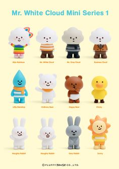 The long-awaited Mr. White Cloud Mini Series 1 has finally arrived at our web shop! 1 set with 12 figures are in blind box packaging. 3d Model Character, Game Character Design, Character Design Animation, Character Concept, Character Art, Cute Surprises, Chibi, 3d Modelle, Mascot Design