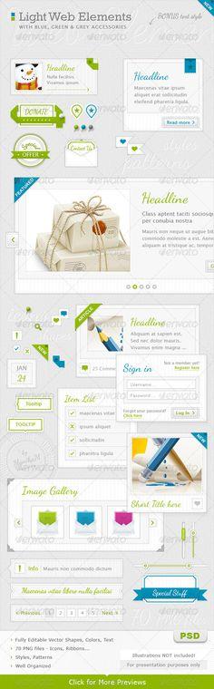 Light Web Elements
