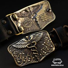 Leather belt with brass buckle Caduceus, Handmade Medical Corps solid brass belt buckle on leather belt Gold Belt Buckle, Brass Belt Buckles, Leather Belts, Solid Brass, Medicine, Death, Wallet, Metal Art, People