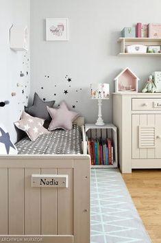 Nadia's room in magazine, interior Boy Toddler Bedroom, Kids Bedroom, Nursery Furniture, Kids Furniture, House Beds For Kids, Sister Room, Cot Bedding, Playroom Decor, Baby Room