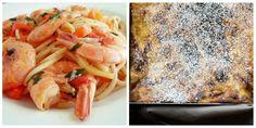 Κυριακάτικο τραπέζι: Γαριδομακαρονάδα και μία πατσαβουρόπιτα με κρέμα | HuffPost Greece LIFE Meat, Chicken, Food, Essen, Meals, Yemek, Eten, Cubs