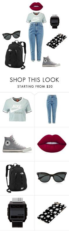 """""""🥔"""" by lena1612 ❤ liked on Polyvore featuring NIKE, Lime Crime, The North Face, Ray-Ban and Vestal"""