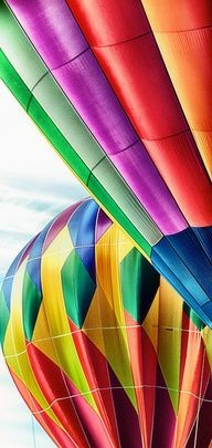 I just love colorful hot air balloons