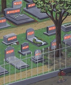 Satirical Illustrations Shows How #SocialMedia Transforms Our lives — #Satire #Art