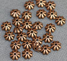 Hey, I found this really awesome Etsy listing at https://www.etsy.com/listing/197214809/50-pcs-of-antique-copper-flower-rondelle