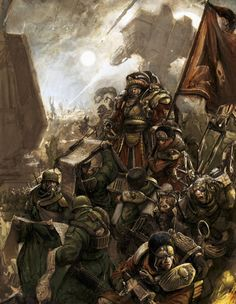 40K Tactics: Astra Militarum Company Command Squads - Bell of Lost ...