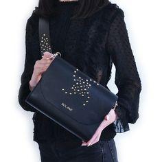 Geanta din Piele Bocane Venus, Negru-Cafeniu - Bocane Italian Leather, Hand Bags, Leather Bag, Kate Spade, How To Make, Beautiful, Collection, Fashion, Moda