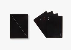 heir Minim Cards, designed by Joe Doucet, have been released in black.