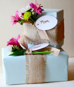{Mother's Day} diy Gift Wrap!