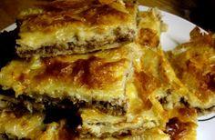 Libyan food: Filo Pastry Meat Pie : Bureek Tajin (رقاق باللحم المفروم (قلاش