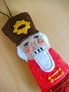Christmas felt nutcracker ornament