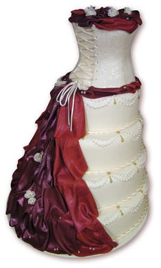 Dress with corset and bustle cake by Grace Cakes