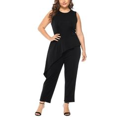 Plus Size Woman Sleeveless Jumpsuits Leather Bodysuit, Leather Jumpsuit, Backless Jumpsuit, Casual Jumpsuit, Lace Jumpsuit, Rompers Women, Jumpsuits For Women, Womens Denim Overalls, Distressed Jeans