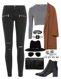 """Untitled #1541"" by elizabethwhitehead ❤ liked on Polyvore featuring Paige Denim, Glamorous, Zara, rag & bone, Calvin Klein, Yves Saint Laurent, McQ by Alexander McQueen, Casio and Maison Margiela"