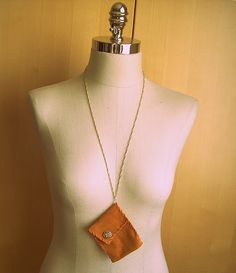 suede (or leather) coin purse necklace!!!!