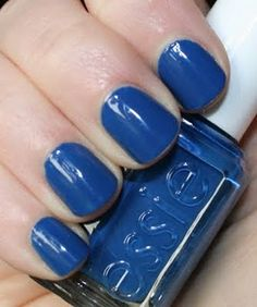 Essie nail polish - nail lacquer ~ Mesmerize - it is absolutely a perfect TARDIS blue nail polish!