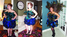 Handmade Peacock Costume   This costume post was just featured on coolest homemade costumes check it out and all their other amazing h...
