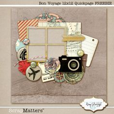 Bon Voyage Quickpage Freebie Seriously though... I want to take a mixed media class!'