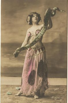 Snake Charmer (I think India and Moroccan influence) long before Britnany Spears danced with a snack on the David Letterman show
